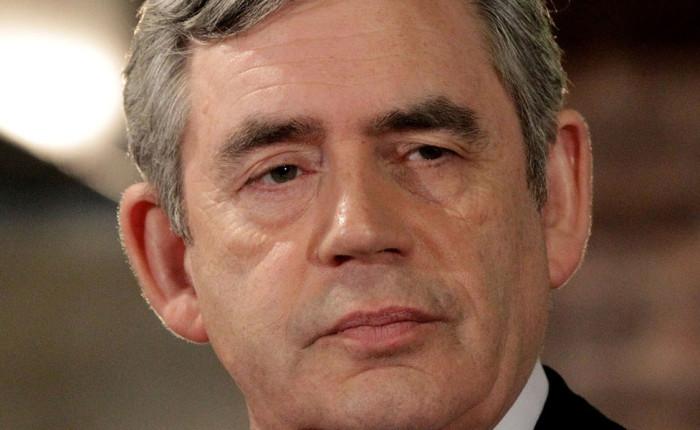 Gordon Brown, Cancelliere dello Scacchiere, con Dick Fuld, all' inaugurazione della nuova sede di Londra di Lehman Brothers, 5 aprile 2004
